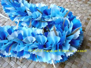 Blue Carnation Lei